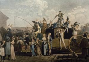Carnival in 1810, Print by Philibert Louis Debucourt (1755-1832)