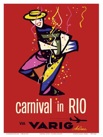 Carnival in Rio - Rio de Janeiro, Brazil - via Varig Airlines