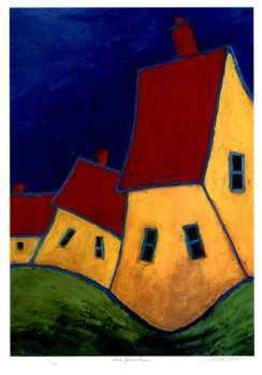 Three Yellow Houses by Carol Ann Shelton