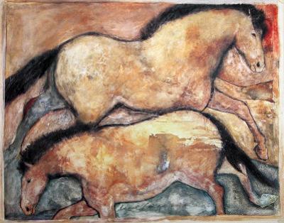 Primal Skin Crossing I by Carol Grigg