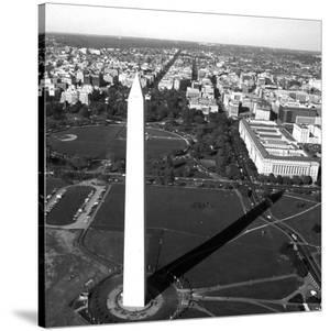 Aerial view of the Washington Monument, Washington, D.C. - Black and White Variant by Carol Highsmith
