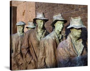 Breadline, F.D.R. Memorial, Washington, D.C. by Carol Highsmith