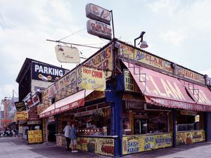 Coney Island Clams, Dogs, Heroes and Shish Kabob by Carol Highsmith