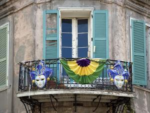 French Quarter Balcony During Mardi Gras by Carol Highsmith