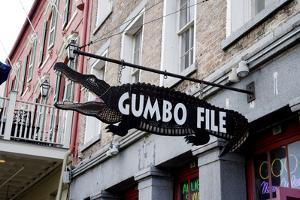 Gumbo File Alligator Sign by Carol Highsmith
