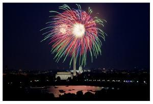 July 4th fireworks, Washington, D.C. by Carol Highsmith