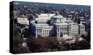 Thomas Jefferson Building from the U.S. Capitol dome, Washington, D.C. - Vintage Tint by Carol Highsmith