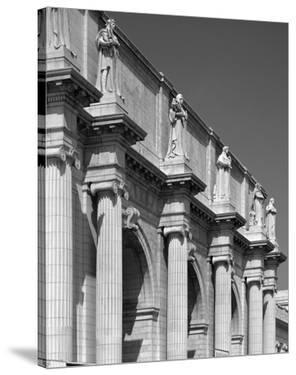 Union Station facade and sentinels, Washington, D.C. - B&W by Carol Highsmith