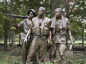 Vietnam memorial soldiers by Frederick Hart, Washington, D.C. by Carol Highsmith
