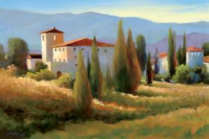 Blue Shadows in Tuscany I by Carol Jessen