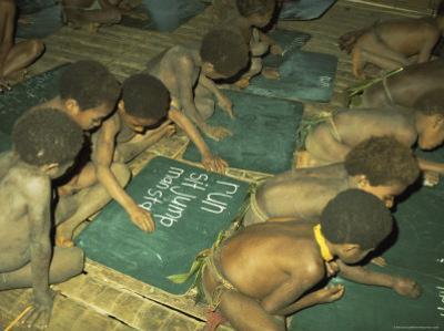 Children at School, Tari, Papua New Guinea by Carol Jopp