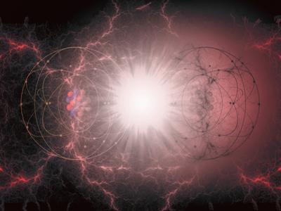 Artist's Interpretation of Matter - Antimatter Collision