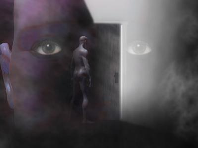 Biomedical Illustration of Self Discovery, Showing a Door Opening Within the Mind by Carol & Mike Werner