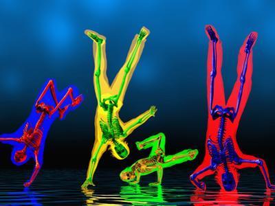 Breakdancers Showing Skeletons