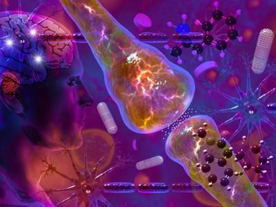 Concept of Medication That Enhances Brain Activity Methylphenidate (Mph) by Carol & Mike Werner