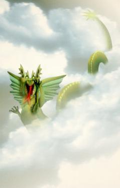 Fork-Tongued Dragon in Clouds by Carol & Mike Werner
