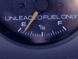 Gas Gauge Running on Empty by Carol & Mike Werner