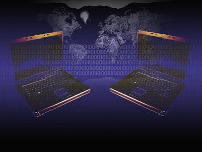 Illustration of Global Digital Communication