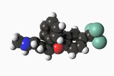 Molecular Model of Fluoxetine (Prozac) by Carol & Mike Werner