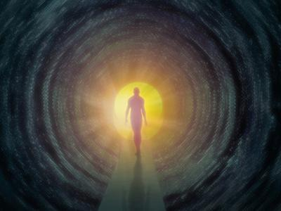 Out of the Cold Light at the End of the Tunnel Concept of a Person Moving Toward Recovery by Carol & Mike Werner