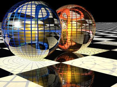 Spheres with Reflections by Carol & Mike Werner