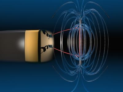 Three Dimensional Representation of the Magnetic Field of a Simple Electromagnet by Carol & Mike Werner