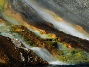 Detail of Water Overflowing from Midway Geyser Basin, Yellowstone National Park, USA by Carol Polich