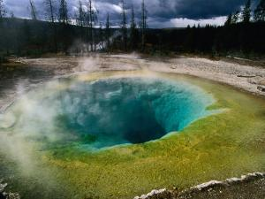 Morning Glory Pool, Yellowstone National Park, Wyoming, USA by Carol Polich