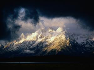 Storm Clouds Over Snow-Capped Mountain, Grand Teton National Park, USA by Carol Polich