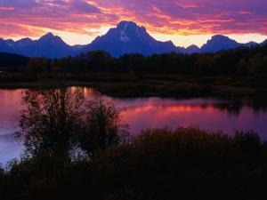 Sunset Over Snake River, Oxbow Bend, Grand Teton National Park, USA by Carol Polich