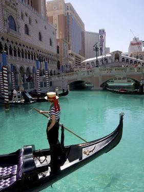 The Venetian Hotel and Gondola by Carol Polich