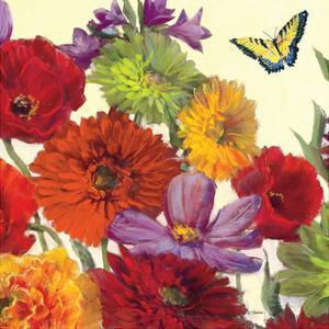 Butterfly Flower Scatter Crop II by Carol Rowan