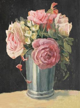 Silver Vase II on Black by Carol Rowan