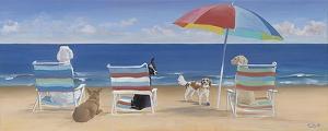 Beach Chair Tails/Umbrella by Carol Saxe