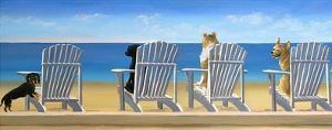 Beach Chair Tails by Carol Saxe