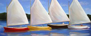 Colored Catboats by Carol Saxe