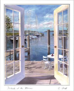 Dockside at the Marina by Carol Saxe