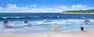 Hot Dogs Surf by Carol Saxe