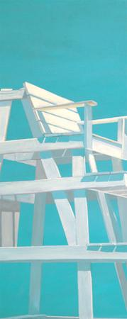 Life Guard Stand (turquoise) by Carol Saxe