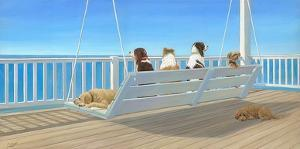 Tails on a Porch Swing by Carol Saxe