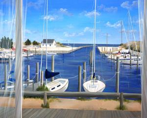Window on Deon Harbor by Carol Saxe