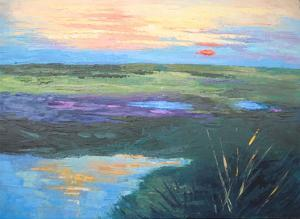 Colorful Marsh by Carol Schiff