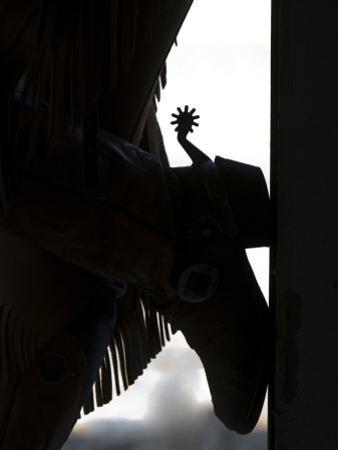 Cowgirl's Boot Silhouette, Flitner Ranch, Shell, Wyoming, USA