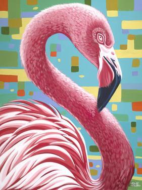 Fabulous Flamingos I by Carolee Vitaletti