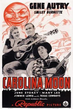 Carolina Moon, from Left: June Storey, Gene Autry, Smiley Burnette, 1940