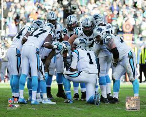 Carolina Panthers Huddle 2015 NFC Divisional Playoff Game