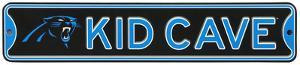 Carolina Panthers Steel Kid Cave Sign