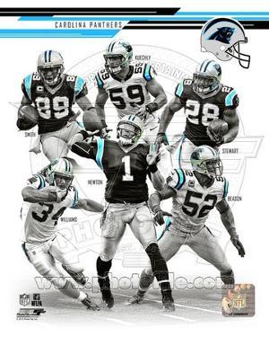 Carolina Panthers - Steve Smith, DeAngelo Williams, Jonathan Beason, Jonathan Stewart, Cam Newton,