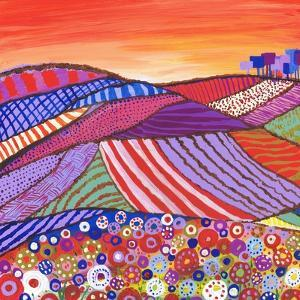 Patchwork Fields in Scotland by Caroline Duncan
