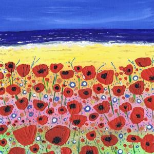 Poppies by the Beach by Caroline Duncan